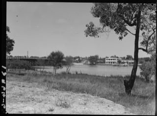 Canning Bridge and Raffles Hotel, 1938