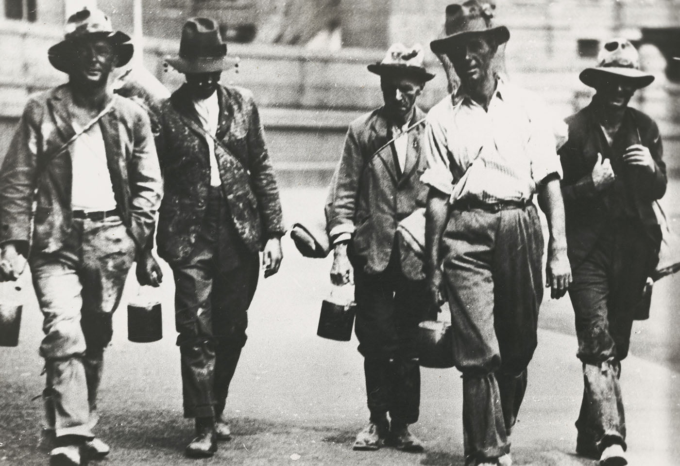 Five men looking for work in the Great Depression, ca. 1930 [pic